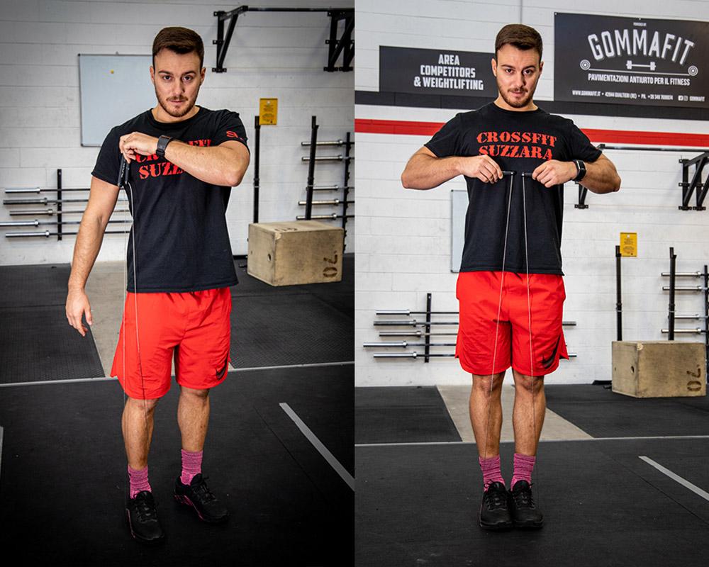 sfida la corda per saltare per perdere peso